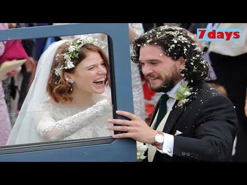"""Звезды """"Игры престолов"""" Кит Харингтон и Роуз Лесли сыграли свадьбу в Шотландии"""